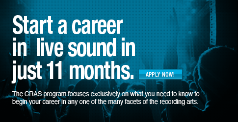 Start a career in live sound in just 11 months